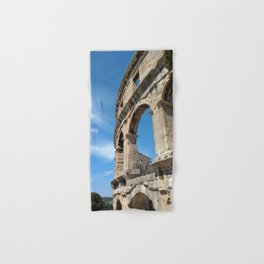 pula croatia ancient arena amphitheatre high Hand & Bath Towel