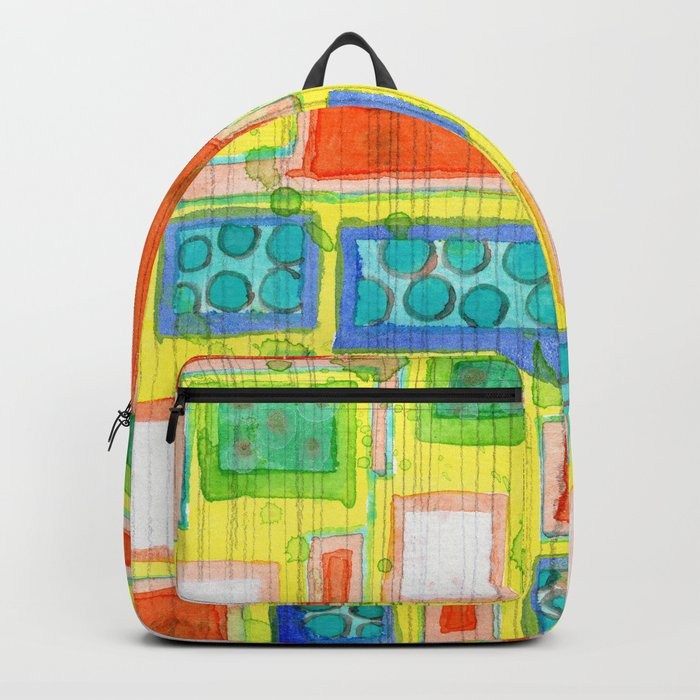 Structured Beautiful Bright Pattern with Vertical Pencil Lines Backpack