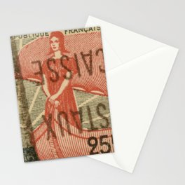 Vintage French Stamp  Stationery Cards