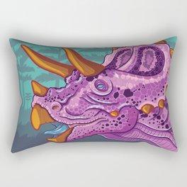 Triceratops (grape) Rectangular Pillow