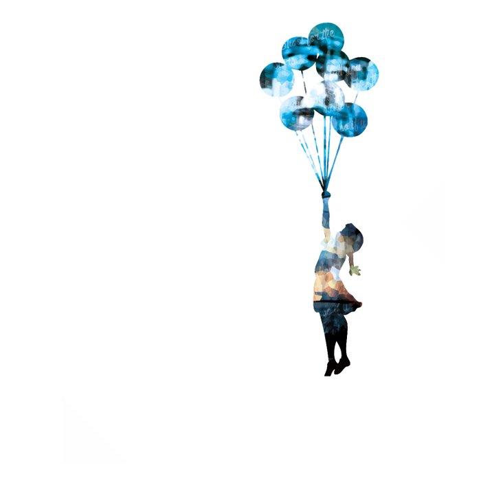 Banksy Balloon Girl Comforters
