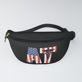 AT - American Athletic Trainer USA Flag Fanny Pack