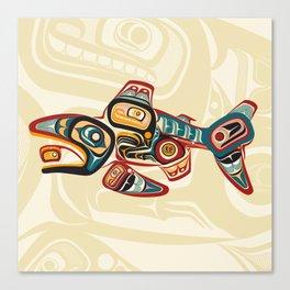 Salish Salmon Canvas Print