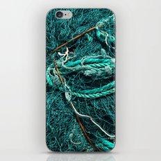 Teal Nautical Rope iPhone & iPod Skin