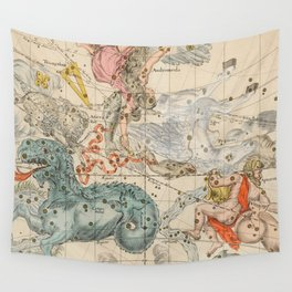 Vintage Celestial & Astrological Map  (1693) Wall Tapestry