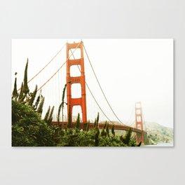Green Golden Gate Canvas Print
