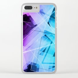 Reflections - Geometric Abstract Art Clear iPhone Case