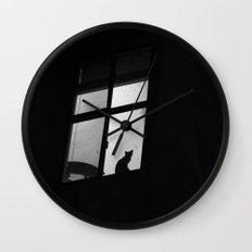 night window Wall Clock