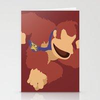 donkey kong Stationery Cards featuring Donkey Kong(Smash)Red by ejgomez
