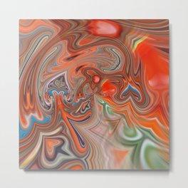 Orange & green flow Metal Print