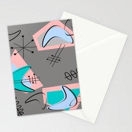 Atomic Era Inspired Boomerangs Stationery Cards