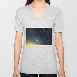Milky Way bokeh Unisex V-Neck