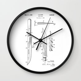 patent art Baer Knife Blade 1956 Wall Clock