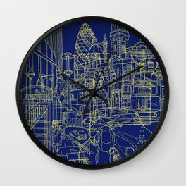 London! Navy Wall Clock