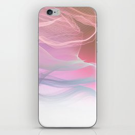 Flow Motion Vibes 1. Pink, Violet and Grey iPhone Skin