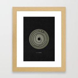 Barbury Castle Crop Circle Framed Art Print
