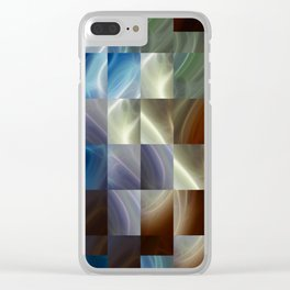 Metal Squares Clear iPhone Case