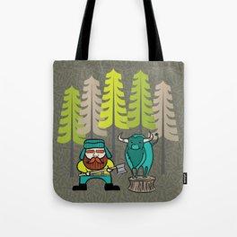 Lumberjack & Blue Ox Tote Bag