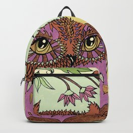 Small Pink Owlet With Wildflower Wreath Backpack