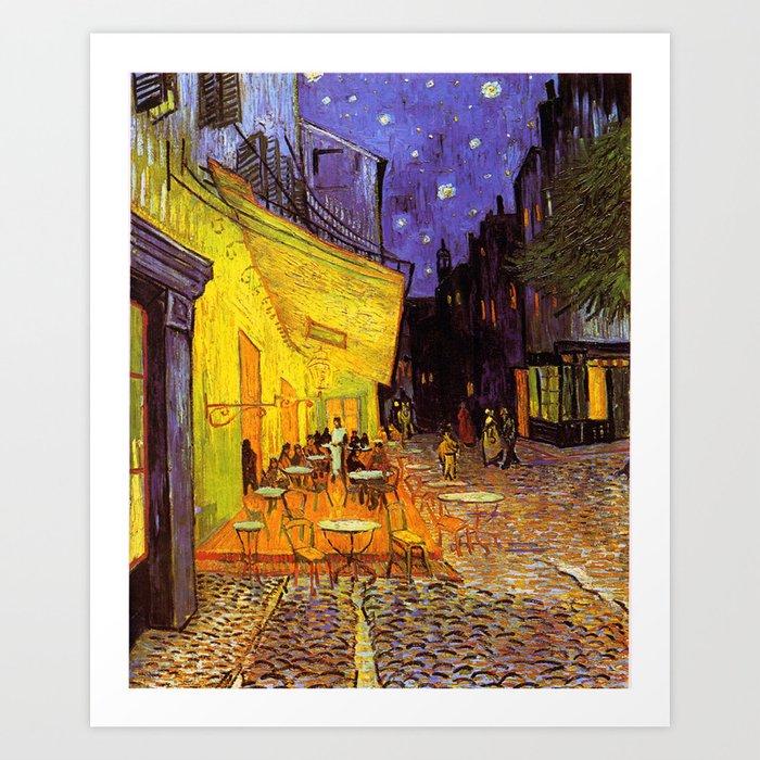 Vincent Van Gogh Cafe Terrace At Night Art Print