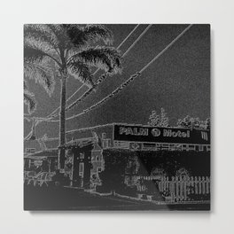 Palms Motel Metal Print