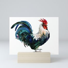Rooster Decor, Beautiful Rooster French country style design artwork, kitchen Mini Art Print