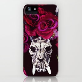 Dragon Skull and Roses iPhone Case