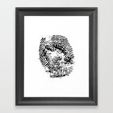 Fingerprint Framed Art Print