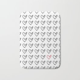 HEARTS ALL OVER PATTERN IV Bath Mat