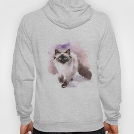 Watercolor Siamese Cat Hoody