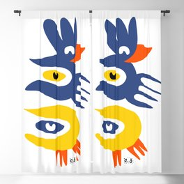 Abstract Birds Minimal Art  Blackout Curtain