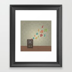Speak To Me With Music Framed Art Print