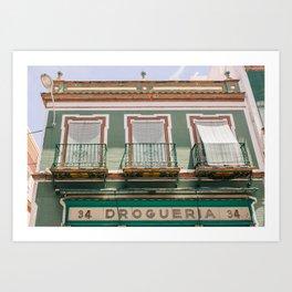 Drogueria in Seville Art Print