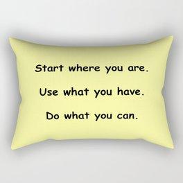 Start where you are - Arthur Ashe - yellow print Rectangular Pillow