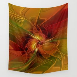 Warmth, Abstract Fractal Art Wall Tapestry