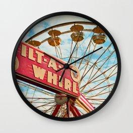 tilt-a-whirl Wall Clock