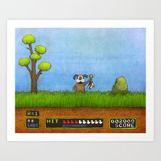 Duck Hunt Art Print
