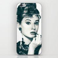 hepburn iPhone & iPod Skins featuring My Hepburn by Thubakabra