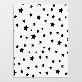 Black and White Stars Poster