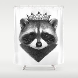 King raccoon Shower Curtain