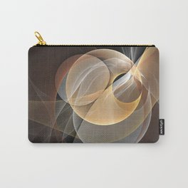 Brown, Beige And Gray Abstract Fractals Art Carry-All Pouch