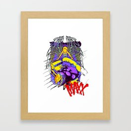 the maxx and julie in color Framed Art Print