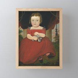 American Folk Art Nursery Decor Framed Mini Art Print