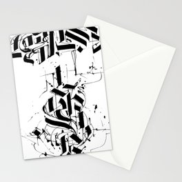 CALLIGRAPHY N°6 ZV Stationery Cards