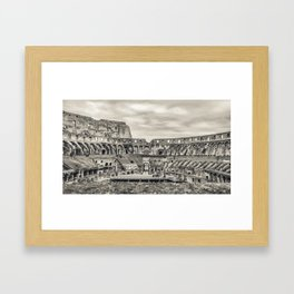 Roman Coliseum Panoramic Interior View, Rome, Italy Framed Art Print