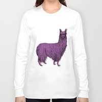 alpaca Long Sleeve T-shirts featuring suri alpaca by youareconstance