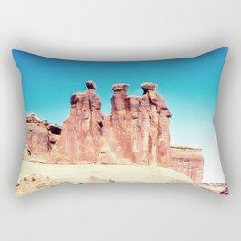Three Gossips Formation, Arches National Park, Utah Rectangular Pillow