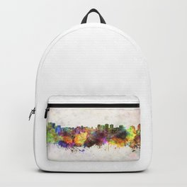 Halifax skyline in watercolor background Backpack