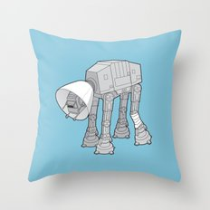 Battle Damage Throw Pillow