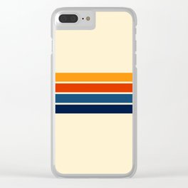 Classic Retro Stripes Clear iPhone Case